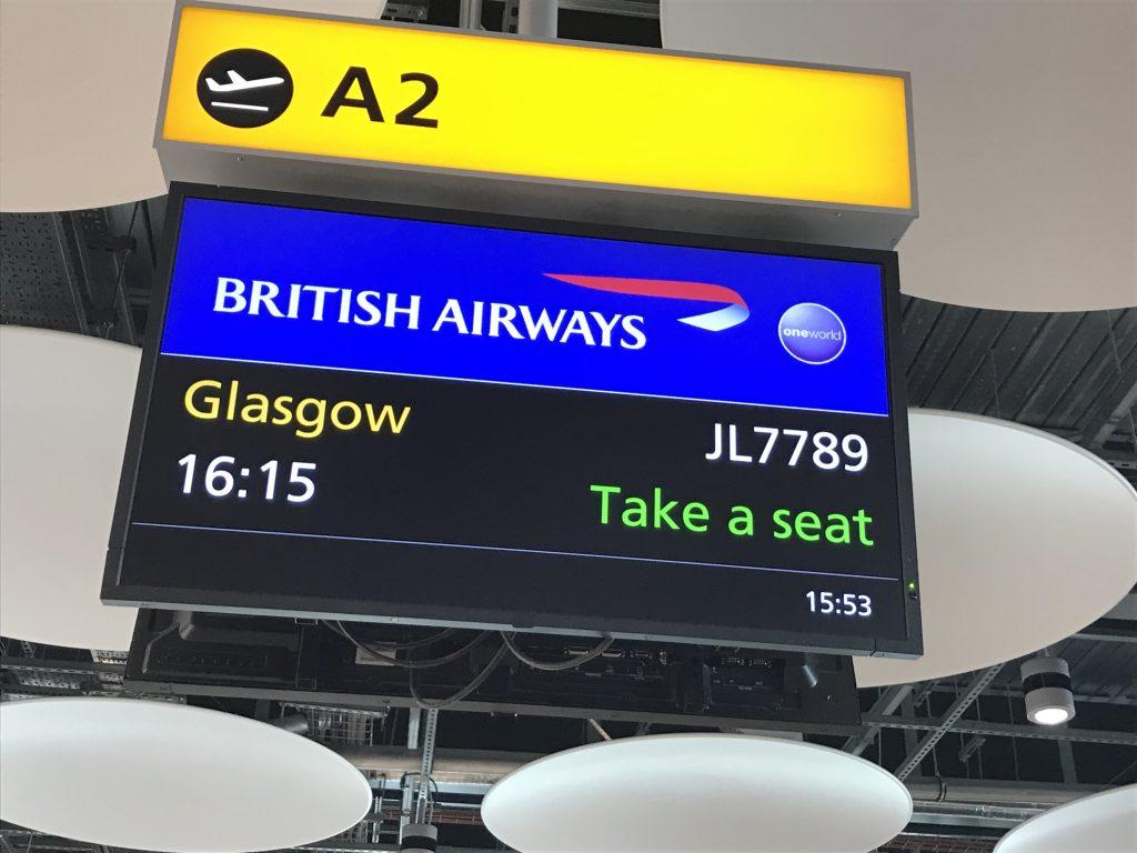BA-1488 ロンドン発グラスゴー行
