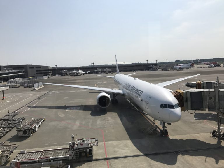 JAL873便 成田から上海