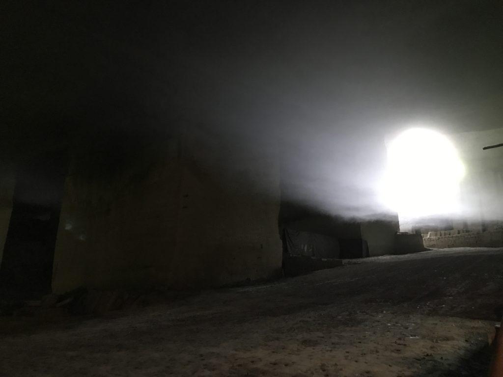大谷資料館。地上とのトンネル