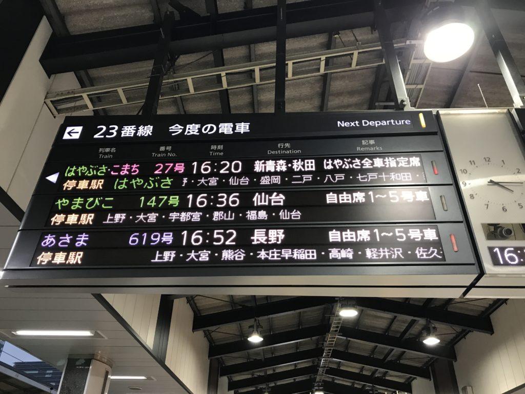 東北新幹線東京駅ホーム