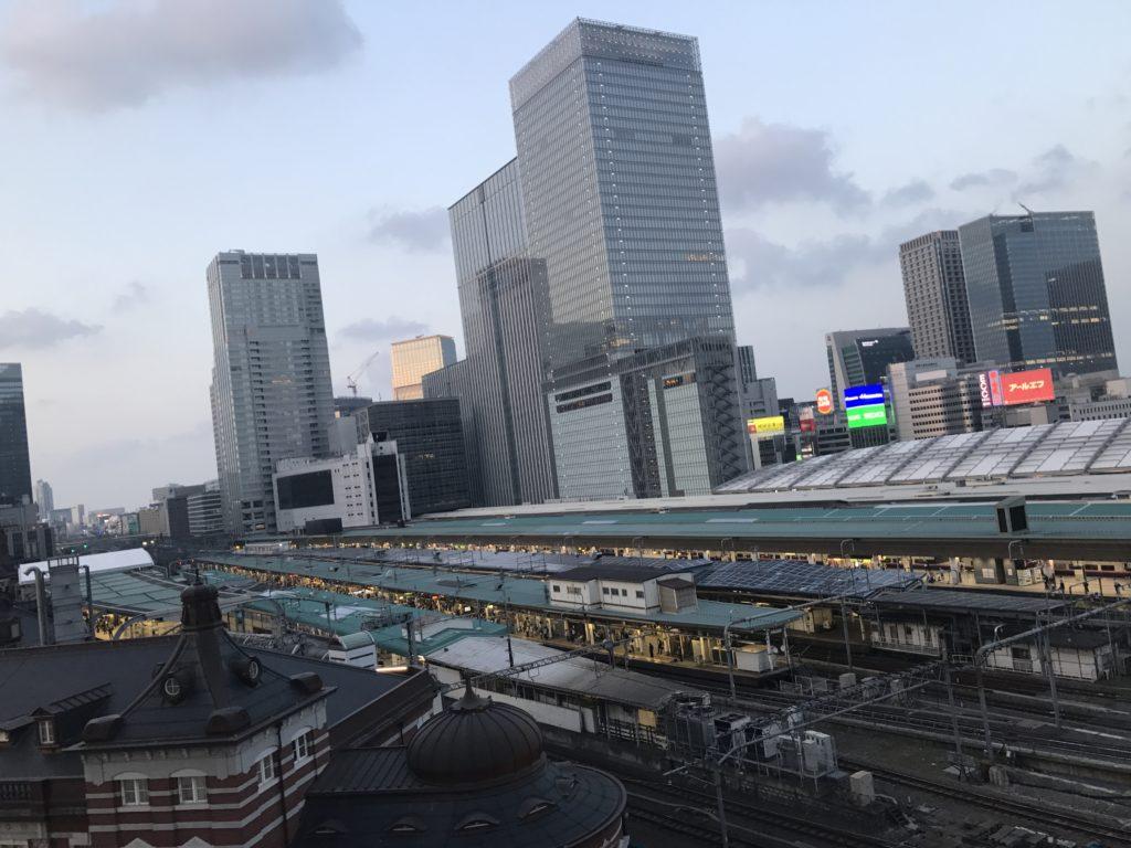 東京駅 KITTE屋上からの眺め