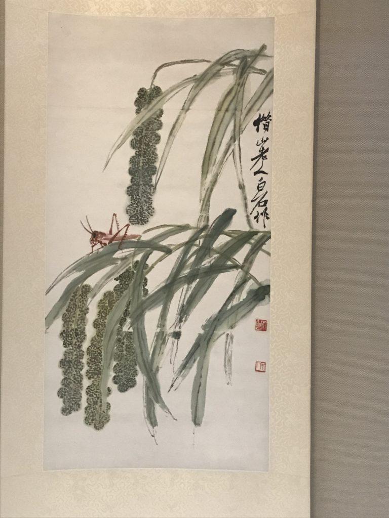 斉白石「穀穂蝗虫図」