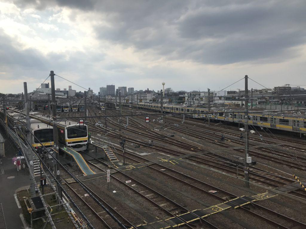 陸橋(三鷹電車庫跨線橋)