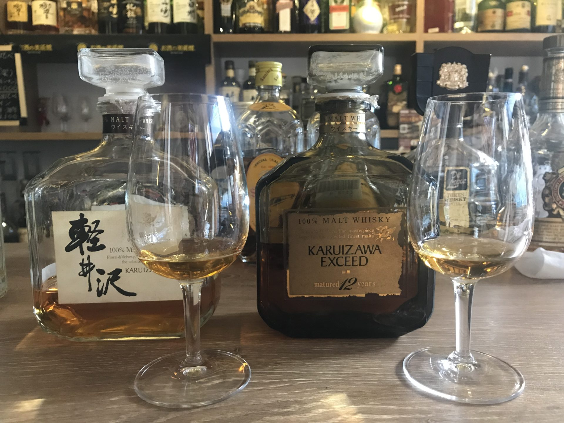 ウイスキーの軽井沢12年と軽井沢8年