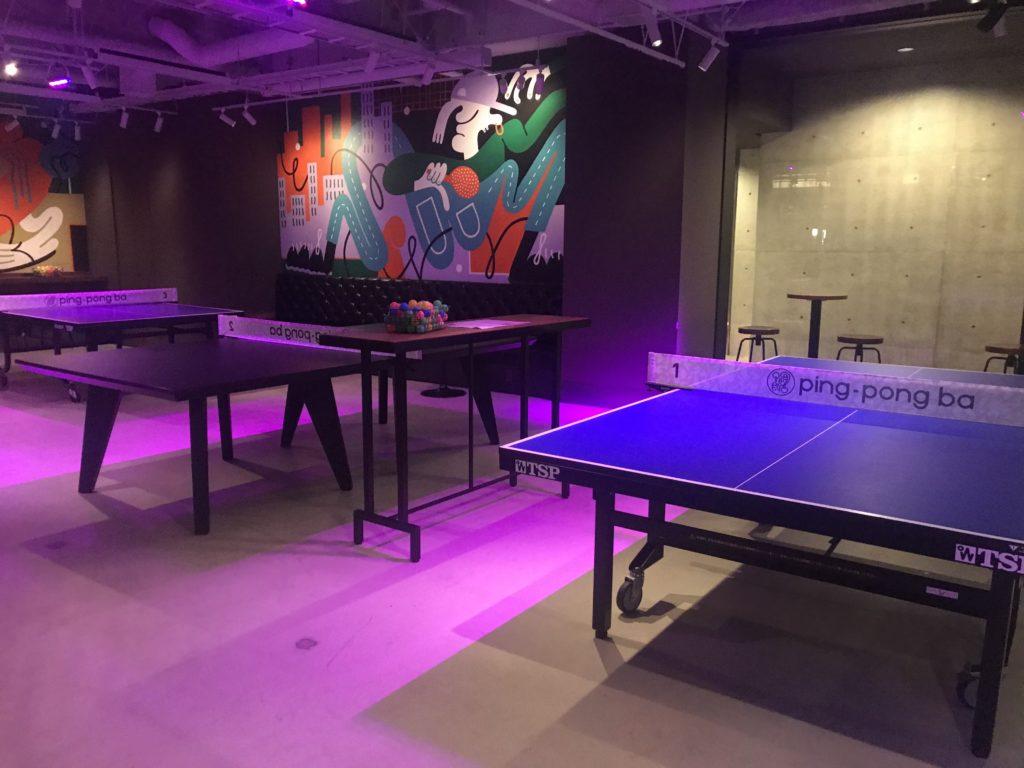 「ping-pong ba」卓球台