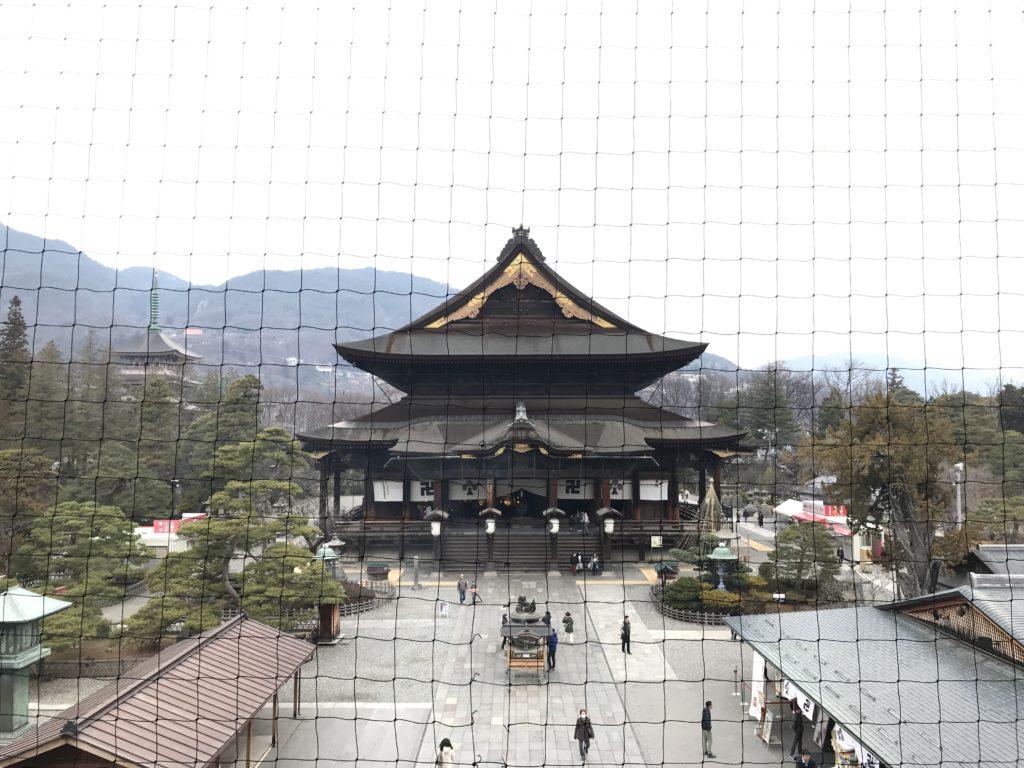 善光寺山門からの眺め