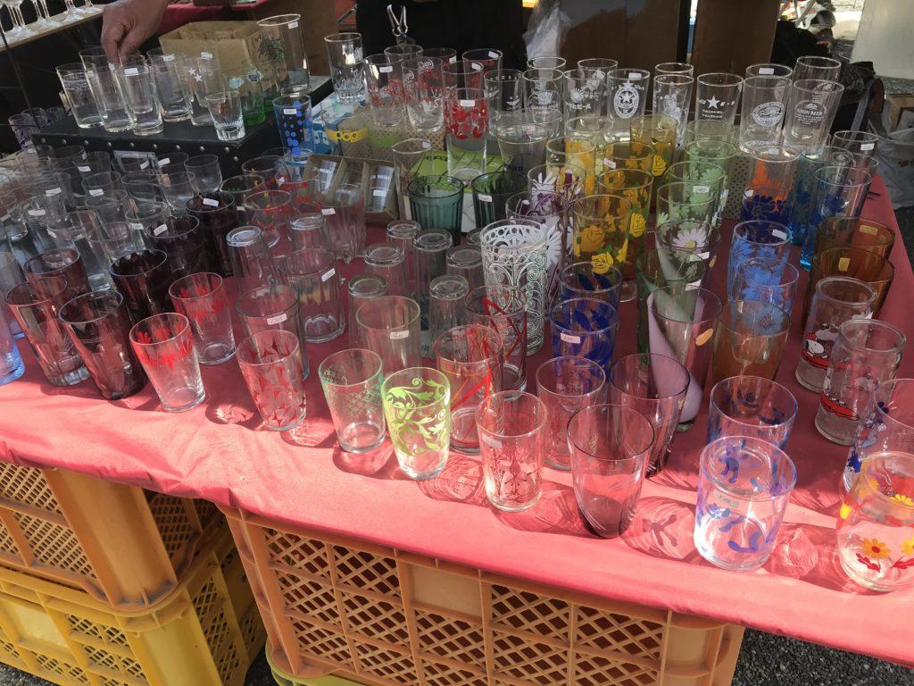 東寺 弘法市でグラスを購入