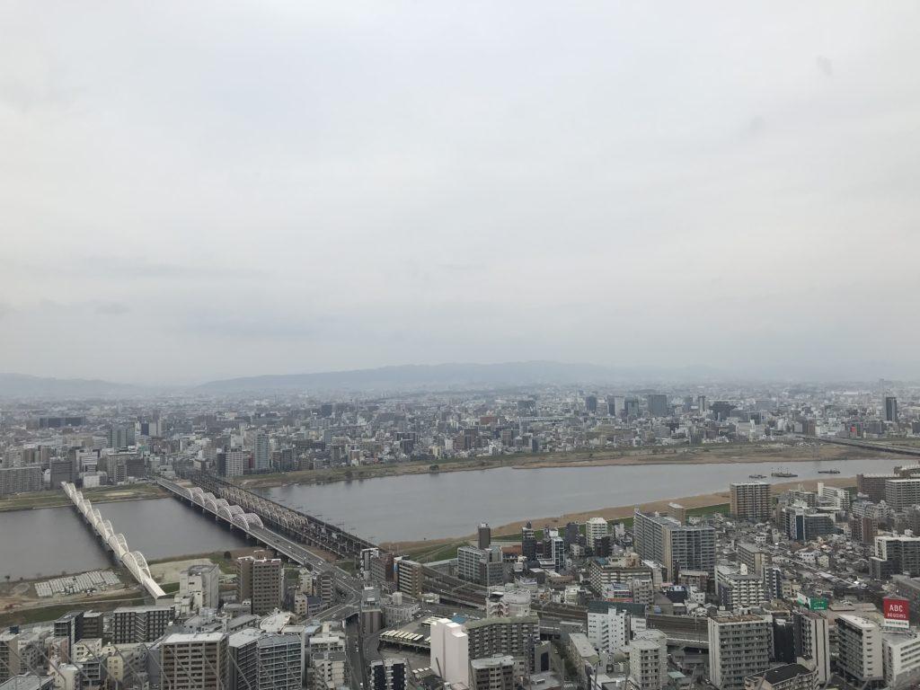 梅田スカイビル・空中庭園展望台から北側の眺め