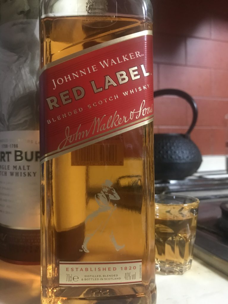 ジョニーウォーカー レッドラベルをテイスティング