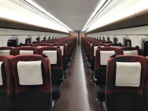 2020年7月の北陸新幹線車内