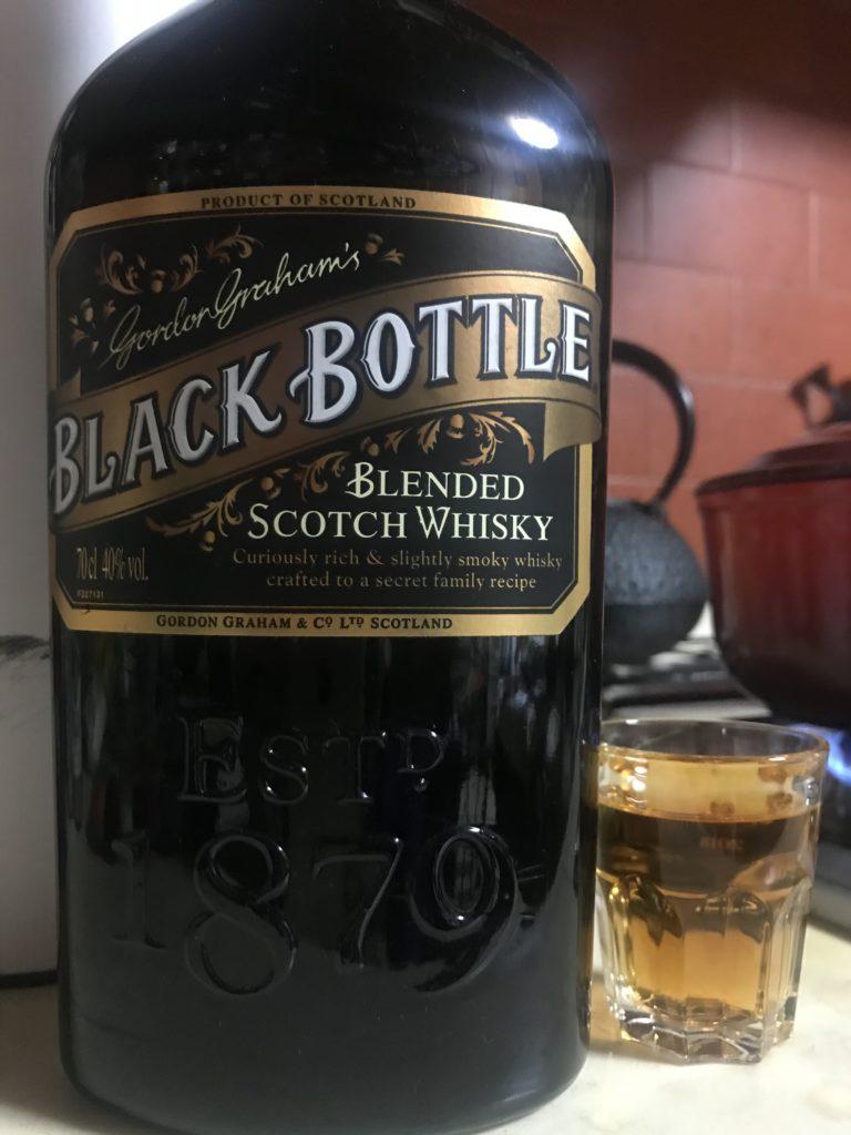 ブラックボトルをテイスティング