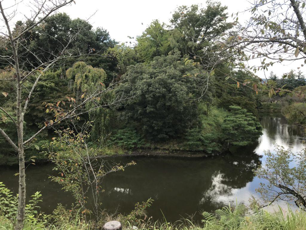 上田城跡公園の堀